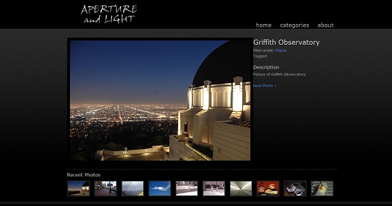 Website image gallery