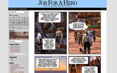 Web Comic Website : Radvisions – website design