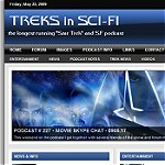 """Treks in Sci-Fi"" Podcast Website"